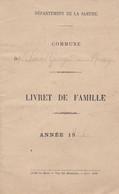 SAINT GEORGES DU ROSAY SARTHE LIVRET DE FAMILLE DESHAYES BOULAY OZANGE ANNEE 1905 CACHET DE LA MAIRIE - Unclassified