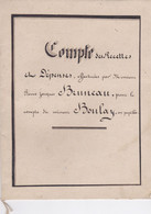SAINT GERMAINS DE LA COUDRE LA CHAPELLE SOUEF LIVRE DE COMPTE DES RECETTES MR BRUNEAU COMPTE MINEUR BOULAY ANNEE 1866 - Unclassified