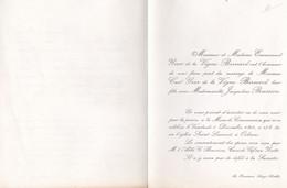 AVEZE ORLEANS FAIRE PART DE MARIAGE LA VICOMTESSE DE FORNEL DE LA LAURENCIE ET YVER DE LA VIGNE BERNARD ANNEE 1964 - Unclassified