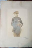 Photo Commandant Georges Deflandre  Avec Décorations  Par Muller Namur - Identified Persons