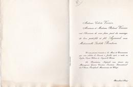 REMALARD FAIRE PART DE MARIAGE MR ET MME VERRIER ET MELLE BOUTRON ANNEE 1965 - Unclassified