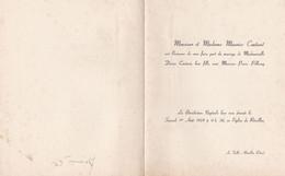 REVEILLON SAINT GERMAINS DE LA COUDRE ORNE FAIRE PART DE MARIAGE MR ET MME COUTANT ET MR PELLERAY ANNEE 1959 - Unclassified