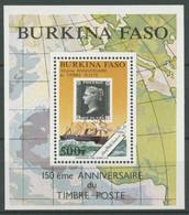 Burkina Faso 1990 150 J. Briefmarken Penny Black Block 132 Postfrisch (C28639) - Burkina Faso (1984-...)