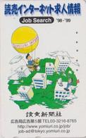 Télécarte JAPON / 110-016 - MONTGOLFIERE  ** JOB SEARCH **- BALLOON JAPAN Painting Phonecard - 241 - Sport