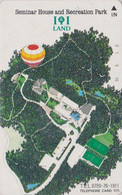 Télécarte JAPON / 330-27589 - MONTGOLFIERE  ** 105 U ** - Sport BALLOON JAPAN Painting Phonecard - 242 - Sport