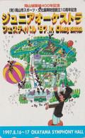 Télécarte JAPON /110-016 - MONTGOLFIERE / Musique ** OKAYAMA FESTIAL ** - Sport BALLOON JAPAN Painting Phonecard - 243 - Sport