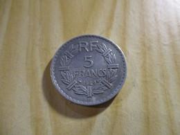 France - 5 Francs Lavrillier 1949 B Alu.N°1388. - J. 5 Franchi