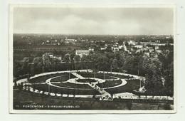 PORDENONE - GIARDINI PUBBLICI  1938 VIAGGIATA  FP - Pordenone