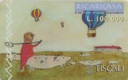 Télécarte Prépayée Italie - MONTGOLFIERE Berger Vache / Dessin D'enfant- BALLOON Italy Prepaid Phonecard  - 247 - Sport