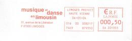 EMA Haute Vienne Limoges Musique Et Danse En Limousin - Affrancature Meccaniche Rosse (EMA)