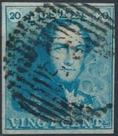 [O SUP] N° 2a, 20c Bleu Clair. TB Margé - Cote: 65€ - 1849 Hombreras
