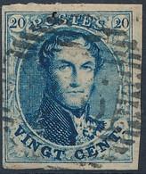 [O TB] N° 4Aa, 20c Bleu Papier Carton. TB Margé Et Regard Dégagé. Superbe - Cote: 65€ - 1849-1850 Medallones (3/5)