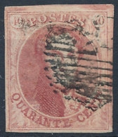 [O SUP] N° 8, 40c Carmin - Marges énormes - Cote: 125€ - 1851-1857 Medallones (6/8)