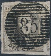 [O SUP] N° 6, Marges énormes Et Obl Centrale 'P85' Namur - 1851-1857 Medallones (6/8)