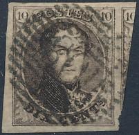 [O SUP] N° 6, Marges énormes Et Voisin. Obl Centrale 'P108' Soignies. Coba +6 € - 1851-1857 Medallones (6/8)