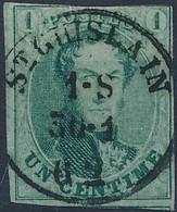 [O TB] N° 9, Effleuré Au Dessus. TB Obl SC 'St-Ghislain' - 1858-1862 Medallones (9/12)