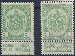 [** SUP] N° 83+83a, 5c Les Deux Nuances - Cote: 120€ - 1893-1907 Coat Of Arms