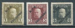 Autriche-Hongrie YT N°1-3-5 Empereur François-Joseph 1° Surchargé K.U.K. Feldpost Neuf/charnière * - Unused Stamps