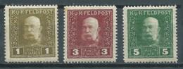 Autriche-Hongrie YT N°22-24-25 Empereur François-Joseph 1° Neuf/charnière * - Unused Stamps