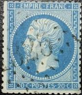 N°22. Oblitéré Losange G.C. N°2325 Mervans. Vendu En L'état. Voir Scan.... - 1862 Napoleon III