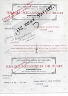 01 - Ain - BELLEY - Facture SARRAUDIE - Tissages, Toiles De Chanvres, Linge De Table Et De Toilette - 1927 - REF 176A - 1900 – 1949