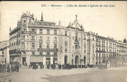 Madrid Calle De Alcala é Iglesia De San José CPA 1919 - Madrid