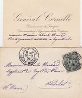 GENERAL CORNILLE GOUVERNEUR DE LANGRES HTE MARNE - COMMANDANT SUPERIEUR DE LA DEFENSE 1906 - Visiting Cards