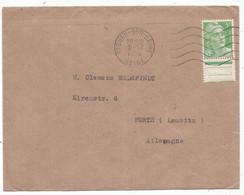 GANDON 5FR N°809 SEUL LETTRE TARIF IMPRIME ST OUEN SUR SEINE 9.12.1950 POUR ALLEMAGNE - 1945-54 Marianne De Gandon