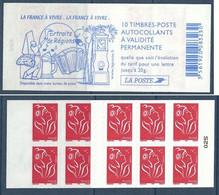 Carnet YT 3744-C4 - Marianne De Lamouche - Couverture Portraits De Régions - Pelote Basque - Horloge - Accordéon - Freimarke
