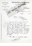 08 - Ardennes - ATTIGNY - Facture NOBLET-ADAM - Nouveautés, Confections, Bonneterie, Lingerie - 1926 - REF 176A - 1900 – 1949