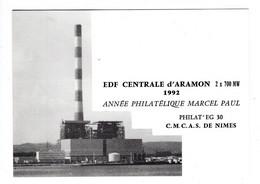 Aramon EDF Centrale 1992 CMCAS De Nimes - Aramon