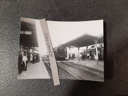 SNCF : Photo Originale J BAZIN :locomotive à Vapeur 231 G Ex PLM En Gare De St ANDRE LE GAZ (38) Le 22 Août 1955 - Trains