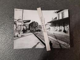 SNCF : Photo Originale J BAZIN :locomotive à Vapeur 141 R En Gare De ANDELOT (52) Le 1er Octobre 1956 - Trains