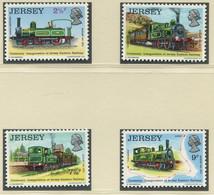 GROSSBRITANNIEN-JERSEY / MiNr. 85 - 88 / Historische Eisenbahnen Von Jersey (I) / Postfrisch / ** / MNH - Trenes