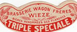 """Wieze """" Brasserie Wagon - Frères - Triple Speciale - Oud Bieretiket - Birra"""