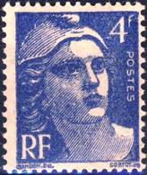 717 Marianne GANDON 4F Bleu  NEUF **   ANNEE 1945 - 1945-54 Marianne De Gandon