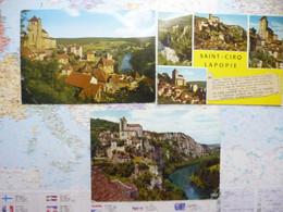 3 Cartes Postales Modernes De Saint Cirq Lapopie - Saint-Cirq-Lapopie