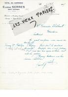 12 - Aveyron - ST-AFFRIQUE - Facture SERRES - Hôtel Du Commerce - 1925 - REF 176B - 1900 – 1949