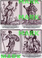 ACEO (Art Card Editions And Originals) QUADRUPLE PRINT Lotto LE 4 VIRTÙ CARDINALI DI CESARE RIPA (1618) - Prenten & Gravure