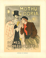 """STEINLEN -""""MOTHU Et DORIA"""" SCENES IMPRESSIONISTE - Reprise D'une AFFICHE Au Format (21 X26 Cm) Pour Une PUB ANCIENNE MAR - Prenten & Gravure"""