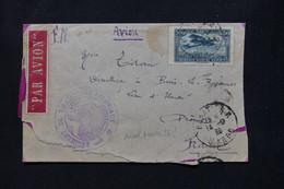 MAROC - Enveloppe En FM De Rabat Pour La France En 1925 Par Avion, Voir Cachet Militaire, étiquette D' Avion - L 79667 - Lettres & Documents