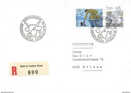 """201 - 82 - Enveloppe Avec Oblit Spéciale """"OLMA St Gallen 1986"""" - Marcofilie"""