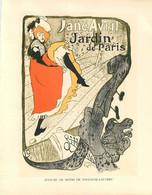 """TOULOUSE-LAUTREC - REVUE - """"JANE AVRIL""""- Reprise D'une AFFICHE Au Format (21 X26 Cm) ENCART PUB MOTRE ROLEX - Prenten & Gravure"""