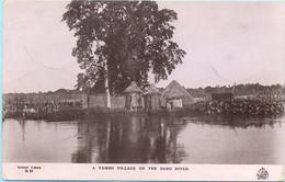 SUDAN 1914 Postcard Village On The Baro River With 4 M Stamp Sent From Kosti To UK SOUDAN Carte Postale - Sudan