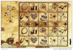Gold Foil Taiwan 2009 Happy Times Stamps Sheet Liquor Wine Pearl Rose Candy Balloon Heart Cake Chocolate Unusual - Blocks & Sheetlets