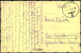1939,, Frühe FELDPOST-Karte Mit Normstempel 12.4.39 Aus Böhmen Und Mähren - Covers