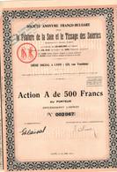 Action  De 500 Frcs Au Porteur -  Société Anonyme Pour La Filature De La Soie Et Le Tissage Des Soieries - Lyon 1931. - Textil
