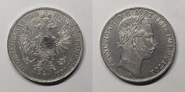 Oostenrijk 1 Florin, 1860 KM# 2219 Oostenrijks-Hongaarse Gulden (1857 - 1892) Frans Jozef I - Austria