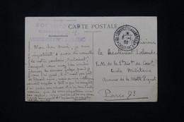 MAROC - Oblitération Trésor Et Postes Aux Armées Sur Carte Postale En 1909 Pour L'école Militaire à Paris - L 79686 - Lettres & Documents