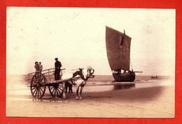 - BERCK-PLAGE -  Carte Photos .marée Basse. - Berck